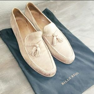 Billy Reid Taupe Leather Tassel Loafer. 9.5.